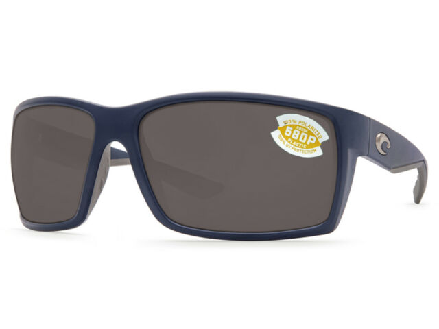 149e0ac1b96 Costa Del Mar Reefton RFT 75 Matte Dark Blue Sunglasses Gray 580p ...