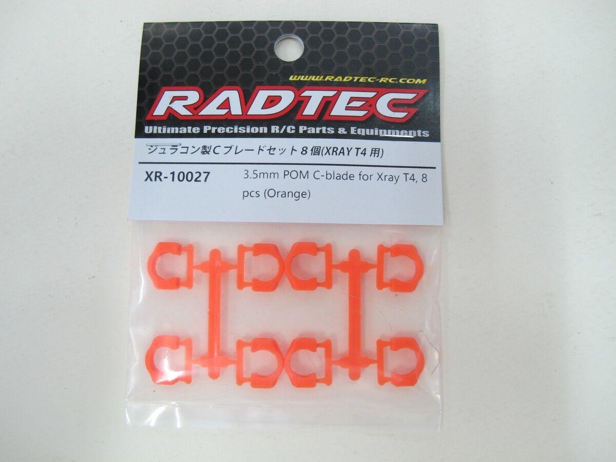 RADTEC 8pcs 3.5mm Plastic Drive Shaft Pin Clips C Cap POM C-Blade for XRay T4