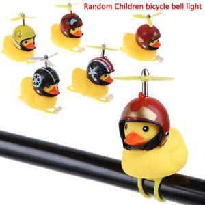 Fahrrad-Ente-Licht-Fahrrad-Horn-Glocke-Cartoon-Helm-Mit-Licht-Motorrad-Lenker