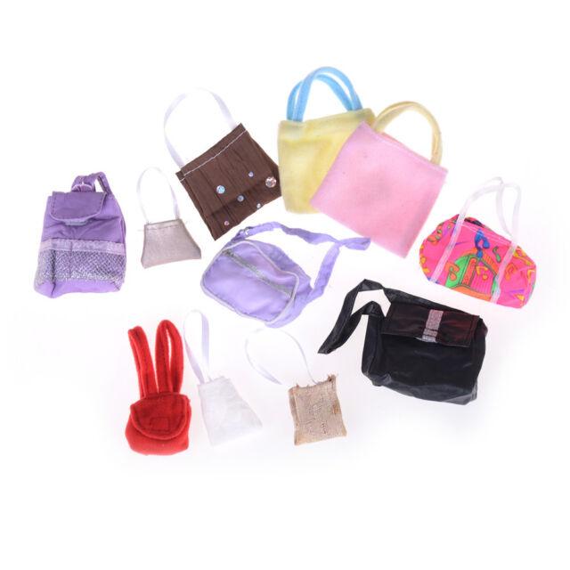 10pcs Randomly Bags For  Dolls Accessories Mix Handbag Kids Toys HU