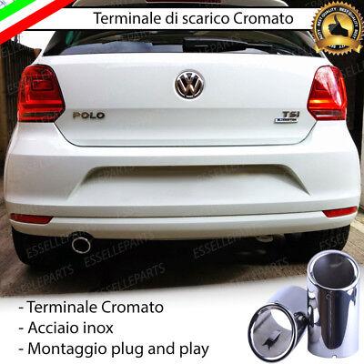 ESSELLE PARTS Coppia TERMINALI di Scarico CROMATI SPECIFICO per Audi A4 B8 Avant per MARMITTA FINALINO Cromato Inox Taglio A Fetta di SALAME
