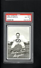 1961 Topps CFL # 17 Gordon Brown PSA 8 NM-MT