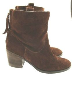 57ed25494bbe Sam Edelman S-FARRELL Oiled Suede Leather Upper Western Ankle Boot ...