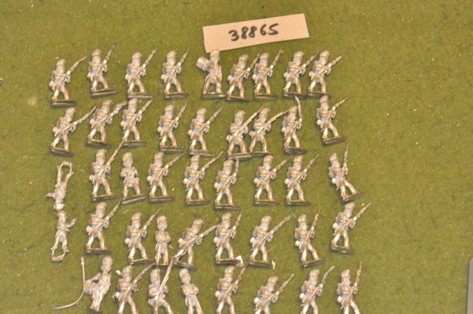 25mm napoleonic   french - old guard unpainted 44 figures - inf (38865)