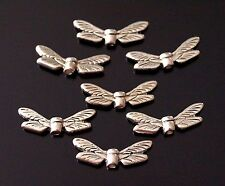 20x Tibetan Silver Dragonfly Wings Spacer Beads Charms 19mm Wide (TSC42)