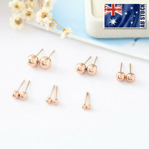 18K-Rose-Gold-Filled-Solid-Ball-Beads-Cartilage-Piercing-Stud-Earrings-3mm-8mm