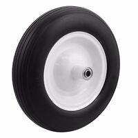 13 1pc Tire Flat Free 5/8 Wheelbarrow Carts Wagon Barrow Ribbed Tread Tubeless on sale