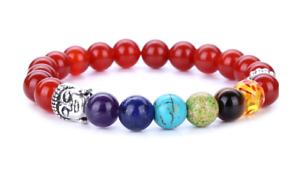 Chakra-Beaded-Bracelets-Healing-Gemstones-Red-Beads-Stones-Bangle-Buddha-Yoga