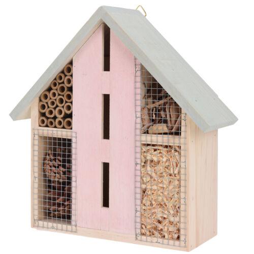 Suspension en bois d/'INSECTES abeille coccinelle hotel maison jardin abri Box Natural
