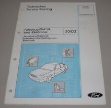 Technische Information Ford Galaxy Elektrik Rückhaltesystem Elektronik 12/1997
