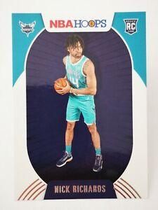 Panini Hoops 2020-21 N20 card NBA Nick Richards Rookie RC #222 Charlotte Hornets