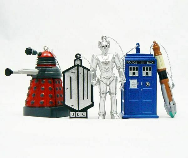 Doctor Who Xmas Ornament 5-Pack Gift Box