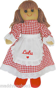Personalised-Vintage-Red-Riding-Hood-Rag-Doll-40cm-Toy-Baby-Xmas-Gift-Girls