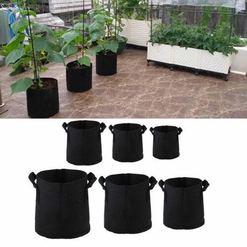 1-10 Gal Plant Growing Récipient Sac Non-Tissé légumes plantation Sac Jardin