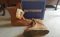 In Box Matterhorn/core-tex Insulated Combat Boots Cv3449 Size 14 Xw