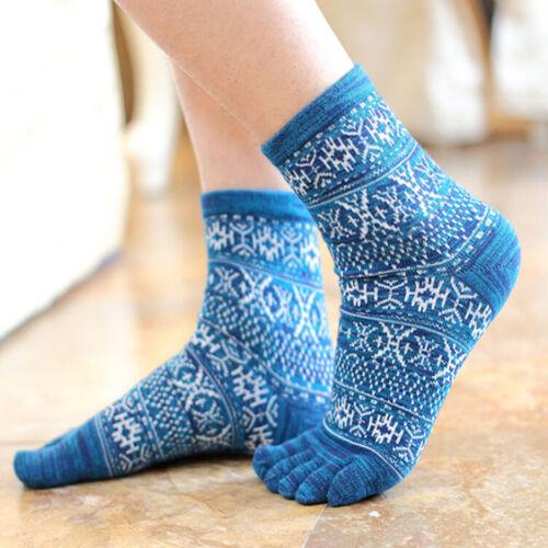 Hot  New Men/'s Women/'s Socks Pure Cotton Sports Five Finger Socks Toe Socks\