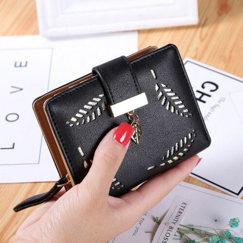 Women Short Small Money Purse Wallet Lady Leather Folding Coin Card Holder Lot