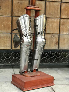 Details about Halloween Costume Gift Larp Armor-SCA Leg Guard Medieval  Armour Leg Guard