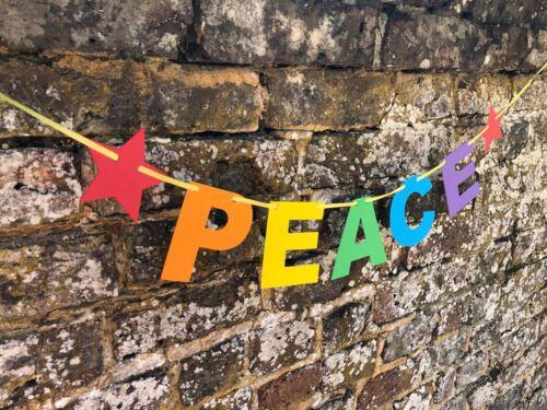 GAY PRIDE 2019 BANNERS LOVE PEACE RAINBOW PRIDE BUNTING LOVE IS LOVE HEARTS
