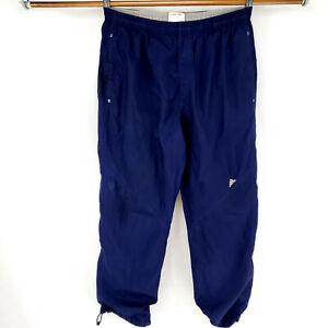 Adidas-XL-Joggers-Lined-Swishy-Track-Pants-Cross-Fit-Chain-Link-Pattern-Distress