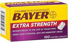 Bayer Extra Strength Aspirin 500 mg, 100 Coated Caplets