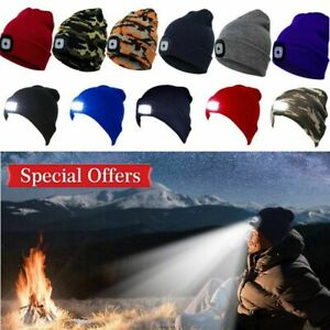 Unisex-LED-Beanie-Hat-With-USB-Rechargeable-Battery-High-Powered-Head-Lamp-Light