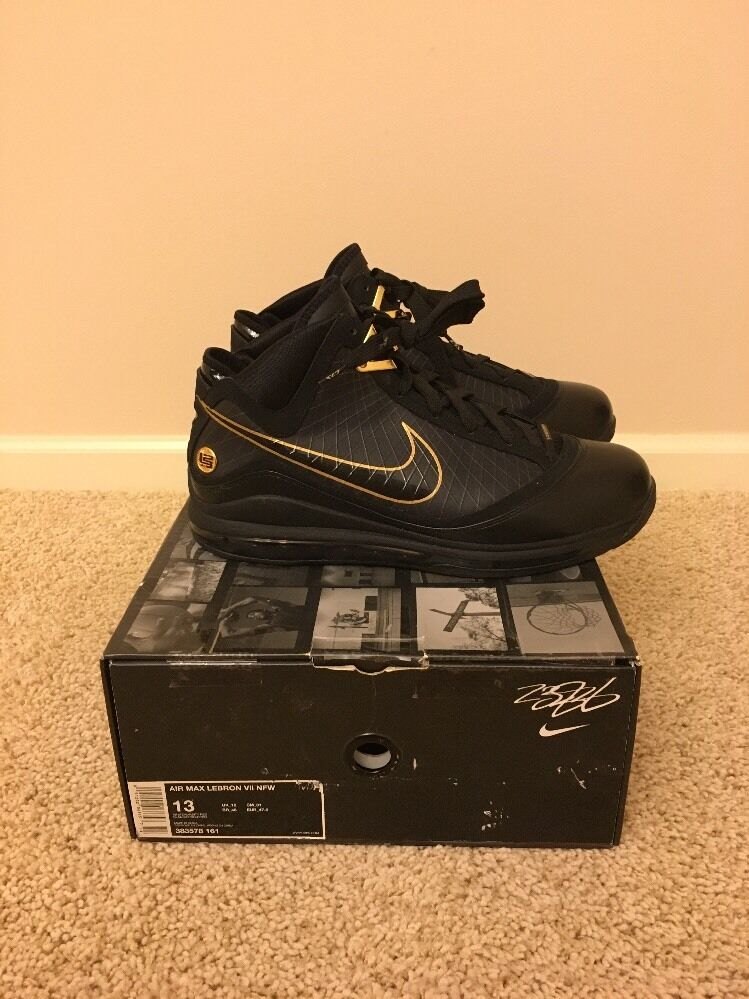30f398208448c9 new Nike Air Max Lebron 7 VII Black Gold Promo Sample PE Size 13 Opening
