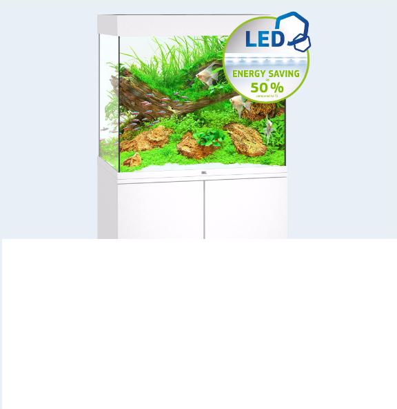 NOVITA' ACQUARIO JUWEL LIDO 120 COMPLETO ACCESSORIATO 2 2 2 X LAMPADE LED BIANCO c44209