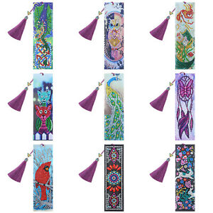 DIY-Exquisite-Bookmark-Special-Shape-Diamond-Painting-Creative-Leather-Tassel