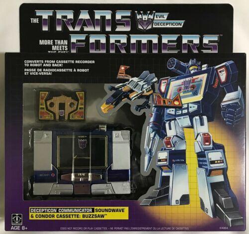 Hasbro Transformers génération One G1 Walmart réédition Soundwave /& Buzzsaw