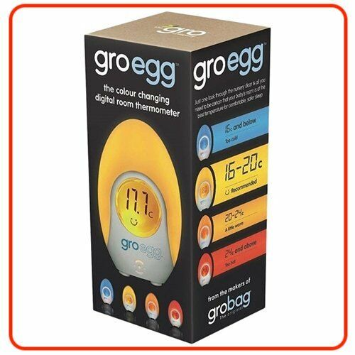 ❤ Gro Egg Digital Room Thermometer & Night Light Nursery Lamp Aus Model Company