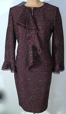 NWT ST. JOHN Knits Metallic Heathered Jacket Blazer Skirt Suit sz 10 $1990