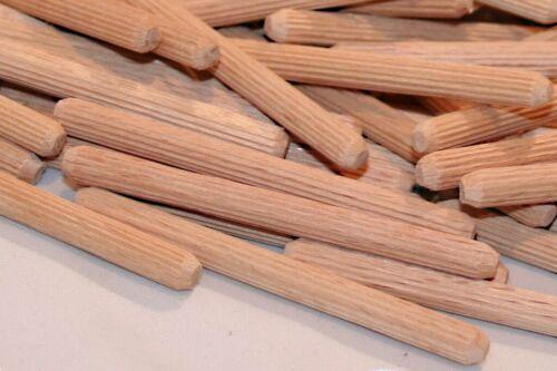 Profi Riffeldübel Buche Holzdübel Bastel Holzstäbe 5 x 60 mm 300 Stück