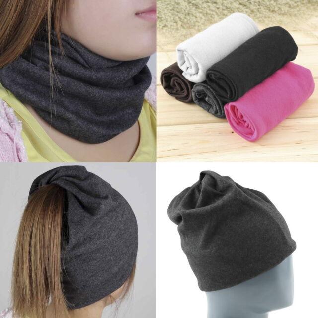 Unisex Women Men Knit Winter Warm Ski Crochet Slouch Hat Cap Beanie OversizedLN