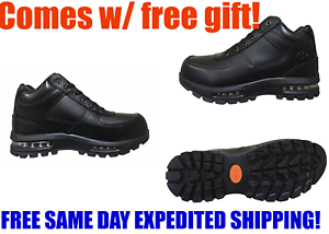 NEW MENS MOUNTAIN GEAR DDAY LE 2 BLACK LEATHER AIR BUBBLE HIKING LACE UP BOOTS