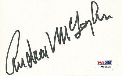 Andrew V Mclaglen Signed 3x5 Index Card Psa/dna Coa Mclintock Shenandoah Auto
