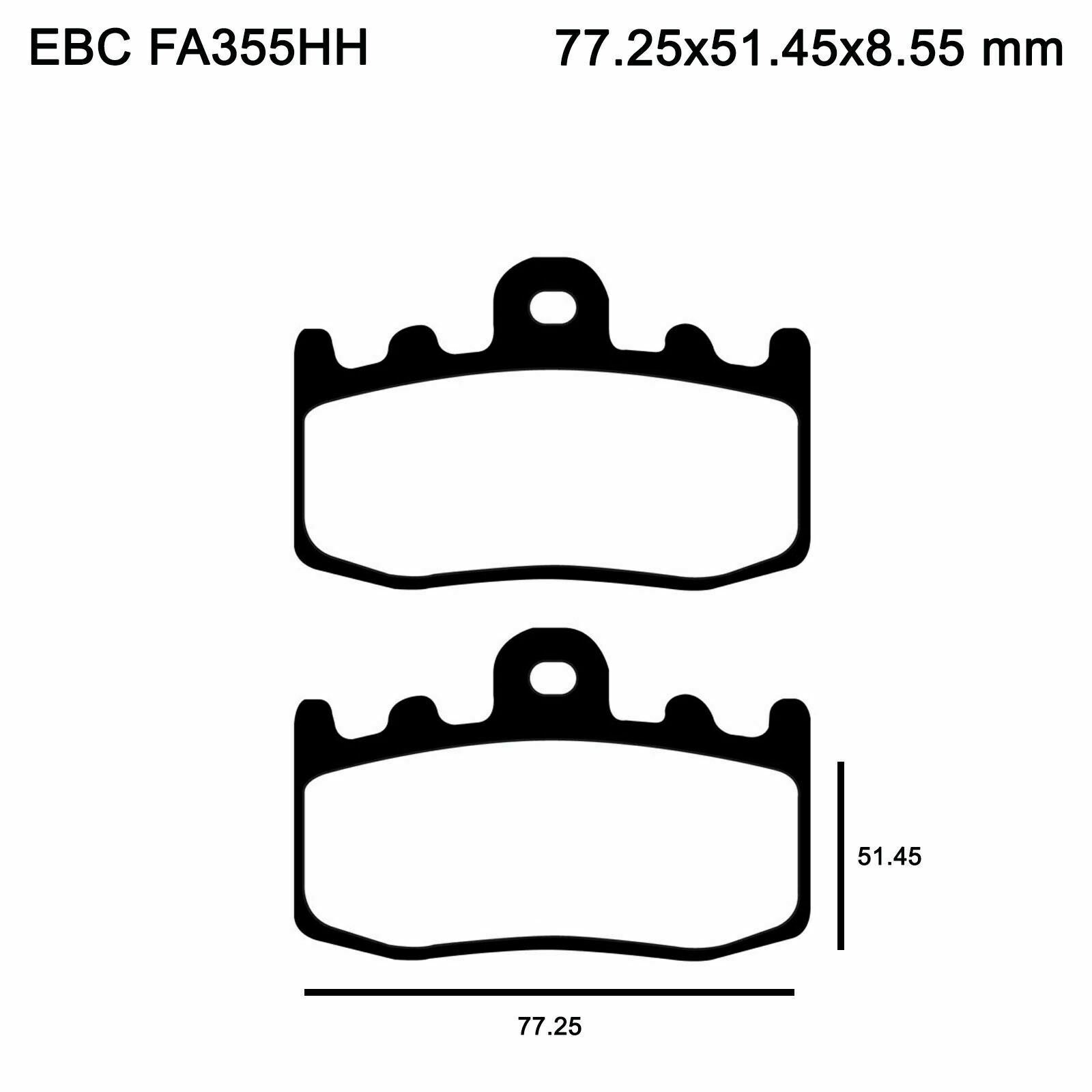 EBC FA335HH Replacement Brake Pads for Front BMW R 1200 RT 07-13