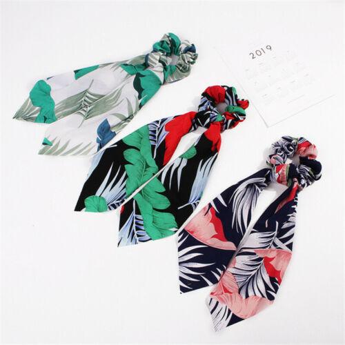 Women Ribbon Rope Hair Ties Bow Elastic Hair Band Ring Girl Ponytail Scrunchie