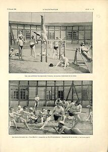 Bain de Soleil Masculin Berlin Kurfürstendamm Exercice de la Corde GRAVURE 1901 - France - Kurfürstendamm Exercise of the Rope Berlin Germany Allemagne Gymnastic Gymnastique France ANTIQUE PRINTGRAVURE 100 % DÉPOQUE 1901 PORT GRATUIT EUROPE A PARTIR DE 4 OBJETS BUY 4 ITEMS AND EUROPE SHIPPING IS FREE Il s'agit d'un fragment de page o - France