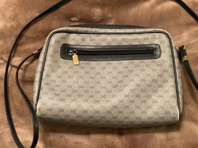 a28019bfa7f Authentic Vintage GUCCI Messenger Crossbody Shoulder Bag Handbag Purse GG  Logo