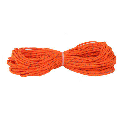 3mm x 20m Orange Reflective Guyline Tent Rope Guy Line Camping Cord Paracord