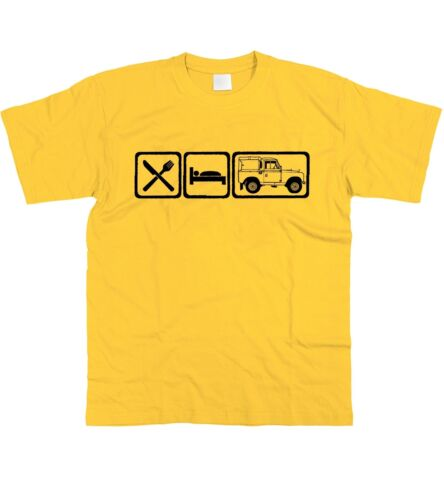 5XL Motorholics Mens Eat Sleep Land Rover Series 2 II T-Shirt S
