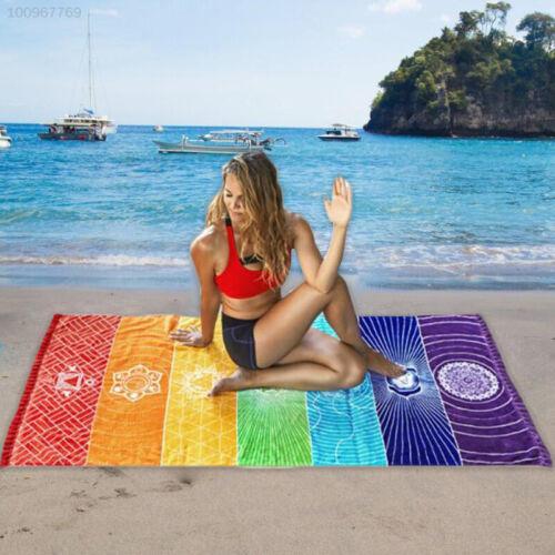 C951 Schal  Regenbogen Für  Matte  Handtuch  Strand Quadrat Wand Yoga Decke