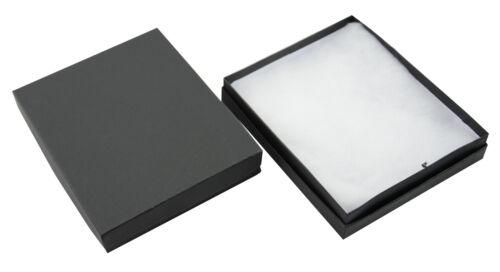 Black Kraft Multi Purpose Cotton Filled Boxes Jewellery Gift Display Packaging