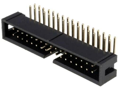 4x ZL231-34KG Socket IDC mâle PIN34 Coudé 90 THT plaqué or 2.54 mm Ninigi