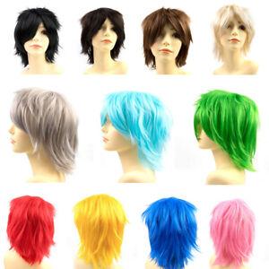 Cosplay-Anime-Short-Wig-Dark-Brown-Linen-Blonde-Straight-Unisex-Full-Wigs