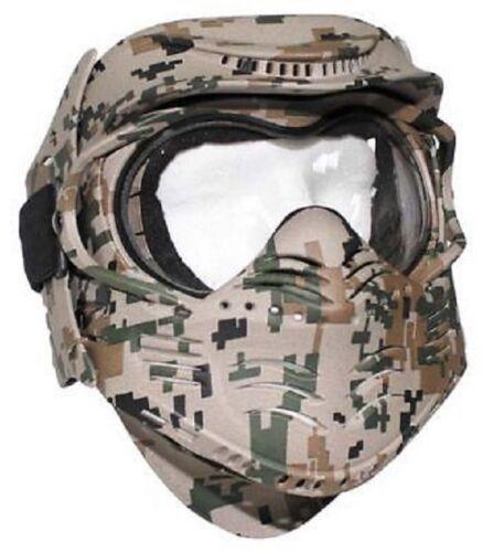 Fight Face Mask Gesichtsschutz Maske US digital woodland camouflage Gotcha