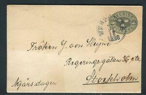 Suède - Entier Postal Pour Stockholm En 1898 - Réf M102