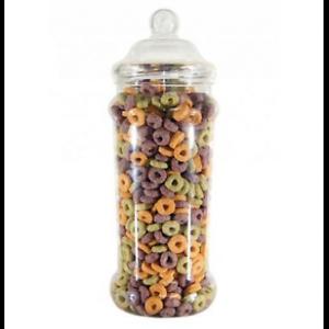 Food Safe Plastic 2.5ltr Large Empty Tall Victorian Style Sweet Storage Jars