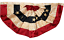 1.5x3 1.5/'x3/' Sewn Embroidered USA American Tea Stained Fan Flag Banner Bunting